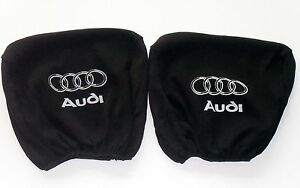 2-Headrest-covers-in-BLACK-for-AUDI-A2-A3-A4-A6-A8-B4-B6-B8-80