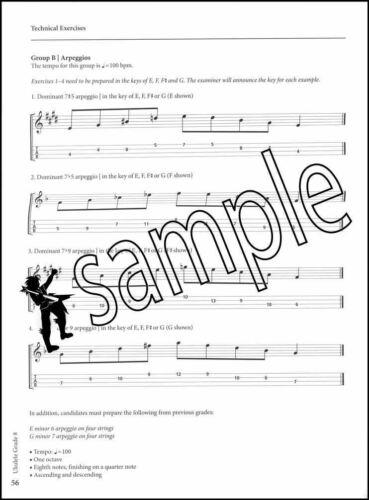 Rockschool Ukulele Grade 8 from 2020 TAB Music Exam Book//Audio SAME DAY DISPATCH