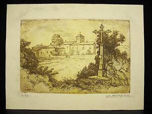 Luc-Barber-1903-1989-Eglise-Of-Chambost-Engraving-Numbered-4-20