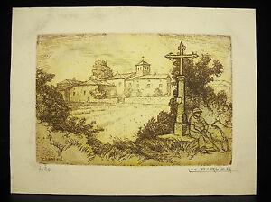 Luc Barbier (1903-1989) Eglise De Chambost Gravure Numérotée 4/20 Dessins Attrayants;