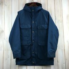 Vintage Woolrich 60/40 Mountain Parka MADE IN USA Blue Jacket TALON Zip Men's M
