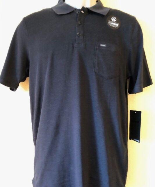 00684cb2581 New Hurley Men s S M L XL XXL Largo Dri-Fit 3.0 Polo Shirt Black MKT0005450  00A