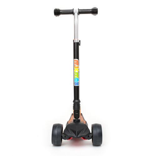 Kids push kick scooter Lampeggiante LED Light Up 3 Ruota Spingere Regolabile Tri Pieghevole