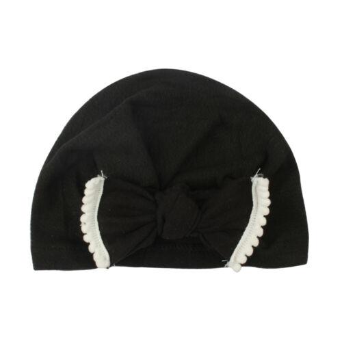 Cute Newborn Infant Child Baby Boy Girl Turban Cotton Beanie Hat Winter Warm Hat