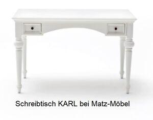 Karl Schreibtisch Weiß Vintage Landhausstil Landhaus Sekretär Von