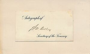 Andrew Mellon - signature of the financier as U.S. Secretary of the Treasury