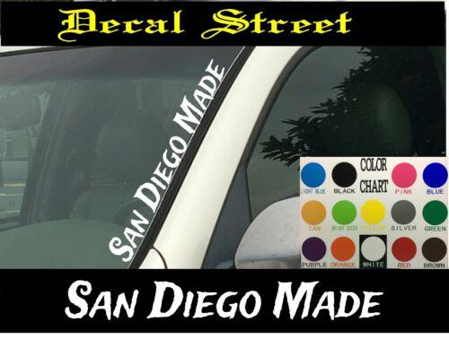 """San Diego Made Vertical Windshield Vinyl Decal sticker 4/"""" x 22/"""" Car truck SUV"""