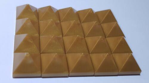 LEGO® 20 Pyramiden Kachel Pyramid Tile Pearl Gold NEU 22388