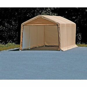 Image Is Loading Portable Auto Storage Shelter Tan Car Canopy 10