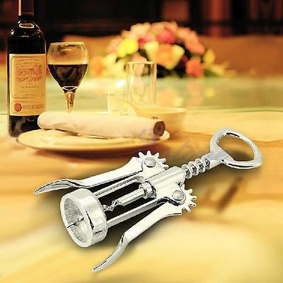 New Stainless Steel Waiter Metal Wine Corkscrew Bottle Beer Cap Opener