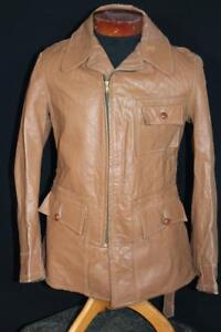 RARE-VINTAGE-EARLY-1950-039-S-034-DANA-CLARK-034-BROWN-LEATHER-CALIFORNIAN-JACKET-MEDIUM