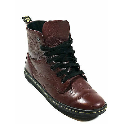 Dr Martens Leyton Red Leather Boots Size 6 US.