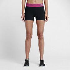 "Nike Women's Sm - PRO 3"" COOL COMPRESSION TRAINING SHORTS - Black Pink 725443"