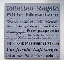 Dekofliese Wandbild Bildfliese Toilettenregeln (061DP) Geschenkidee Fliese