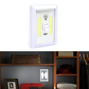 COB LED Lamp Switch Wall Night Battery Operated Closet Emergency Light LWY