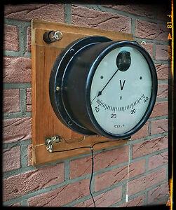 Steampunk wandlampe aus historischem voltmeter art d co - Wandlampe industriedesign ...