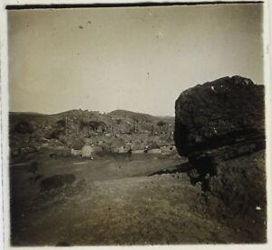 Afrique-noir-Photographie-BC12-Plaque-stereo-Vintage-ca-1920
