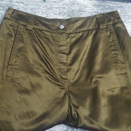 Shiny Sz Europe Olive Green Bukser 8 Flare Belly Olsen Button Kvinders Anna w0WSqqAaH