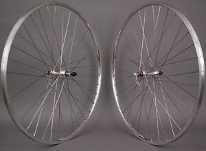 Details about Sun M13 Silver 700c Sealed Bearing Road Bike Wheels 126mm  fits Vintage Bikes
