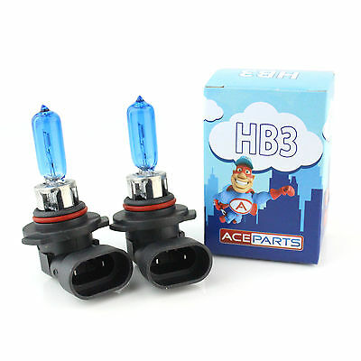 Chrysler Vision HB4 55w ICE Blue Xenon HID High Main Beam Headlight Bulbs Pair