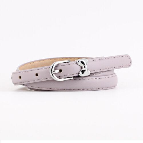 Women's Skinny Waist Belt Pin Buckle Cute Bow Belts Ladies Dress Jeans Waistband