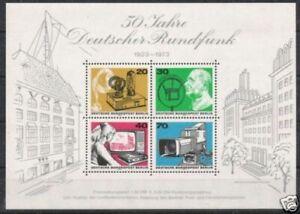 Berlin Bloc Nº 4 ** Allemand Radio 1973, Cachet-afficher Le Titre D'origine RéSistance Au Froissement