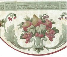 DIE CUT ARCHITECTURAL STYLE PEARS  apples AND GRAPES Wallpaper bordeR Wall