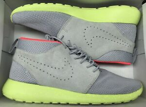 cheaper a0024 1bc10 Details about Nike Roshe Run ID Mid Wolf Grey Volt Crimson Yeezy Platinum  653665 Sz 10