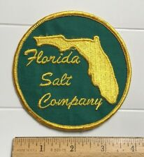 Florida Salt Company Round Yellow Green FL Embroidered Patch
