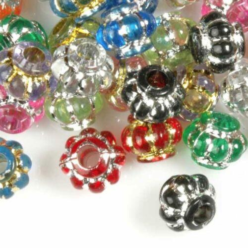 Perles En Acrylique Spacer Fabrication De bijoux 4-12mm DIY Bracelet Collier