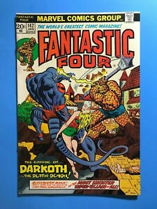 FANTASTIC-FOUR-142-1st-App-of-DARKOTH-LAST-PAGE-DR-DOOM-Marvel-1974