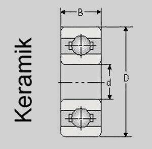 Keramik Kugellager 6700 2RS//C 6700 2RS//C Hybrid 10x15x4