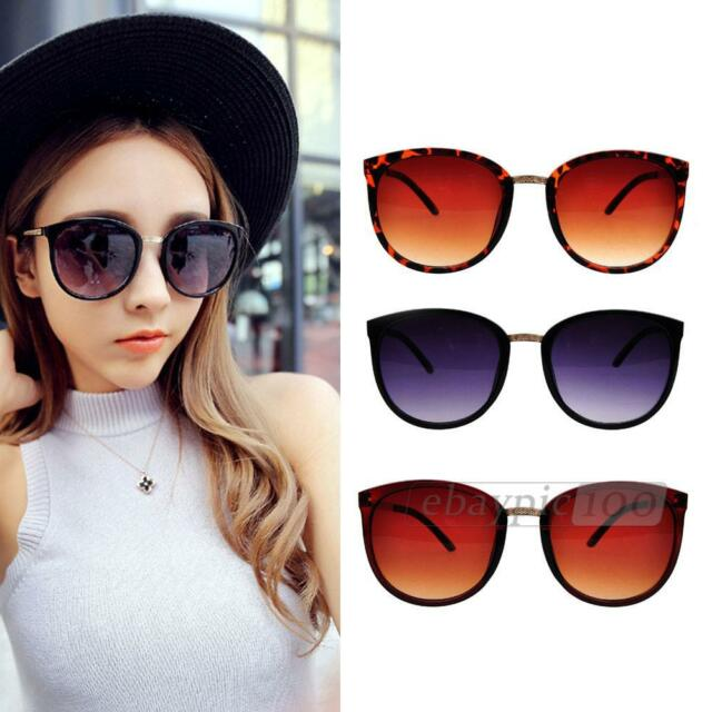Womens Girls Sunglasses Shades Eyeglasses UV400 Metal Frame Vintage Fashion