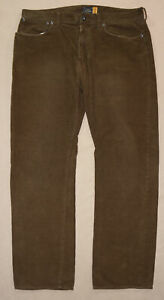 J-Crew-Slim-Fit-Corduroy-Pants-Men-34-W-29-L-Brown-Cotton-Pant-Slacks