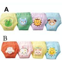 4PCS Kids Baby Boys Girls 4 Layers Toddler Potty Training Pants Cotton Underwear
