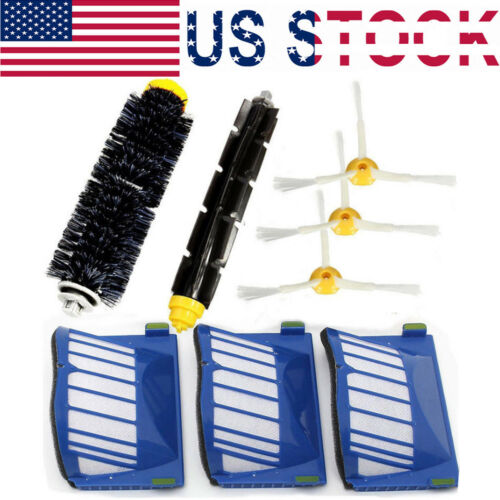 Brush Filter Kit 3-Armed For iRobot Roomba 600 Series Vacuum Accessories