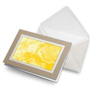 Greetings-Card-Biege-Yellow-Paint-Swirls-Pattern-Art-Abstract-24461