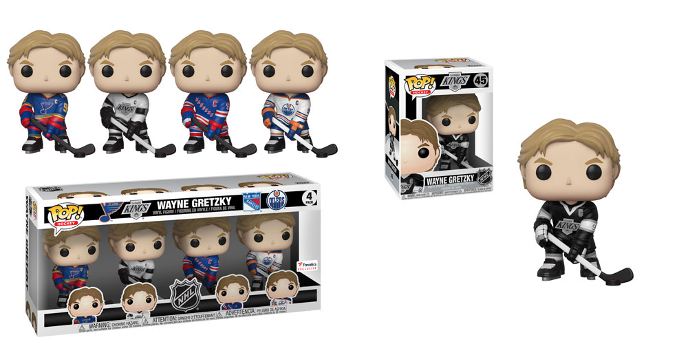 Pop  Vinyl Hockey NHL Legends Gretzky 4 Verpackung + Los Angeles Kings Gretzky  45
