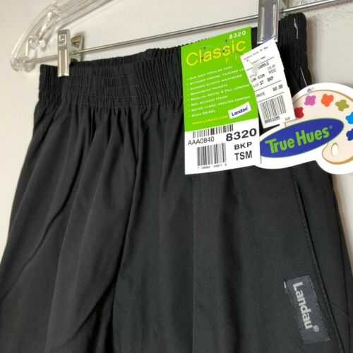 Landau Classic Fit Scrub Pants 8320 Womens BKP Black Front Seam New With Tags