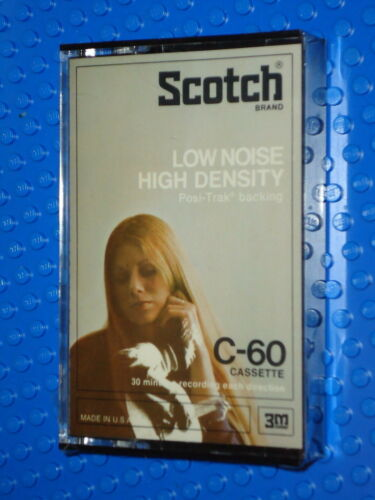 SCOTCH  LOW NOISE HI DENSITY   60  BLANK CASSETTE TAPE SEALED 1