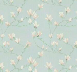 Laura Ashley Magnolia Grove Metallic Silver Wallpaper Same Batch Number REF3D
