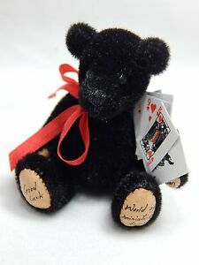 "World of Miniature Bears 2.5/"" Plush Bear Wine #313 Collectible Miniature Bear"