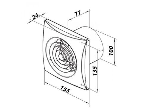 Badlüfter badventilator Ventilateur Ventilateur wandlüfter ECO moteur Super Silencieux dalap ®
