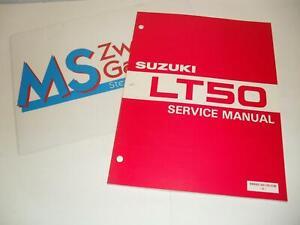 Suzuki LT 50 Werkstatthandbuch Reparaturanleitung Handbuch Wartungsanleitung NE