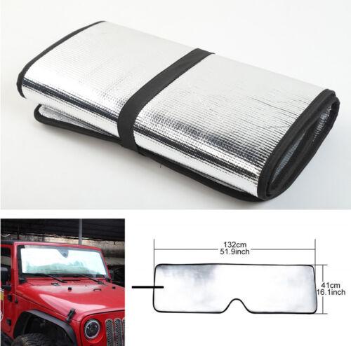 Foldable Jumbo Large Sun Shade SUV Front Rear Window Car Visor Windshield Cover
