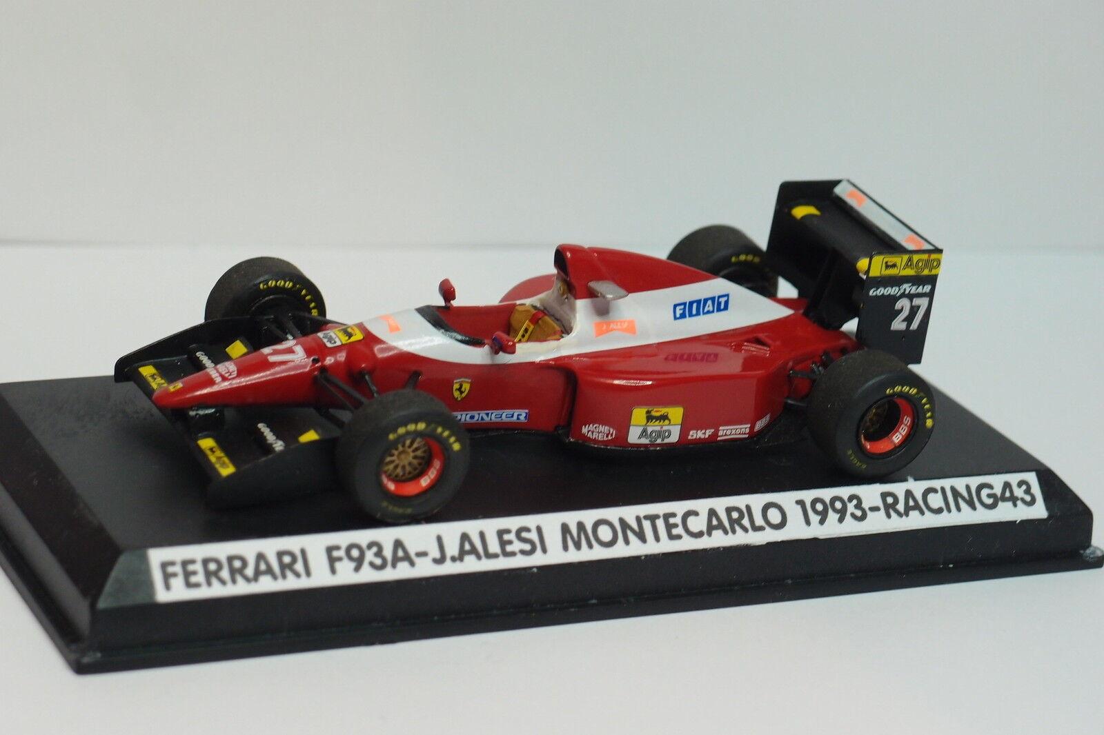KIT MONTé RACING 43 F1 FERRARI F93A ALESI MONTE CARLO 1993 1 43