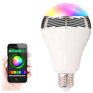 Bluetooth Smart LED Bulb Speaker Colorful Change Light Lamp