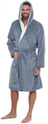 Uomini Super Morbido Vestaglia Accappatoio con cappuccio da uomo-offre una combinazione ideale.