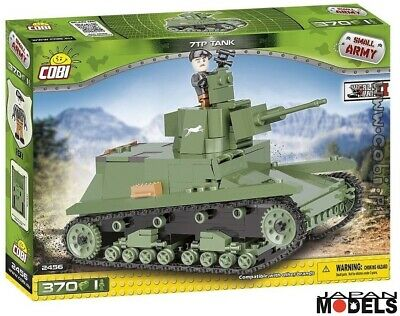 Carro Armato 7tp Tank 370pz World War Ii Cobi 2456 Costruzione Mattoncini Blocks Long Performance Life