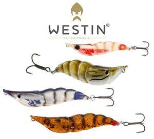 Westin-Peche-Leurre-Mer-Sale-The-Crevette-3D-Rigide-8cm-20g-Goberge-Bass-Ul